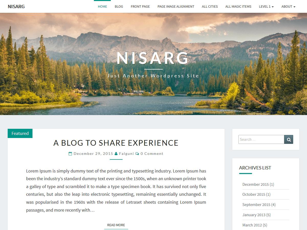 nisarg-simple-clean-blog-theme