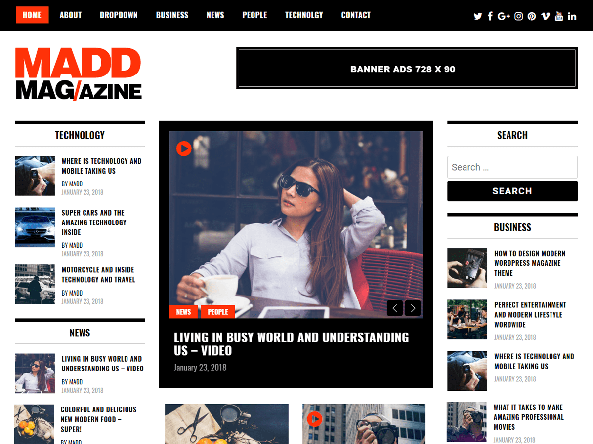 top-notch WordPress magazine theme